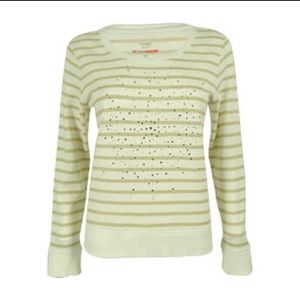 NWOT Style & Co Snowflake Gold Stripe Sweatshirt